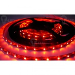 LED pásik 4.8W, 60 LED, Nezaliaty IP 20 - Červený