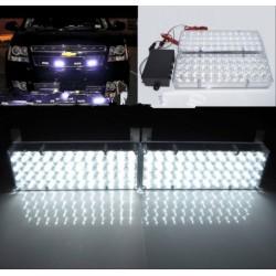 LED stroboskop 2x48 LED biely