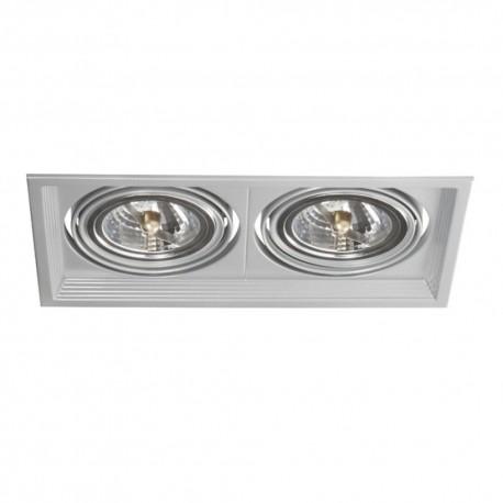Podhľadové svietidlo AR111 Arto 2L-SR strieborné - Arto 2L-SR strieborný AR111 štvorec pre 2 žiarovky