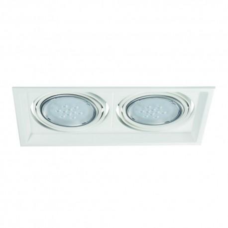 Podhľadové svietidlo AR111 ARTO 2L-W biele - ARTO 2L-W biely AR111 štvorec pre 2 žiarovky
