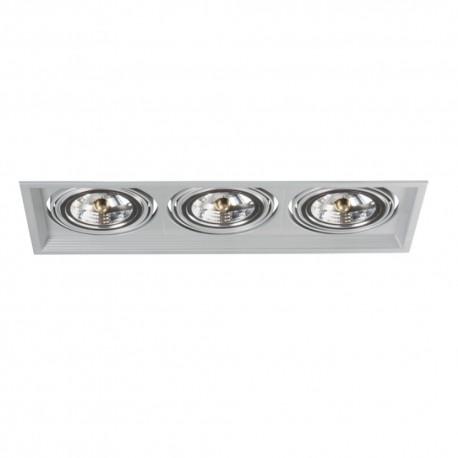 Podhľadové svietidlo AR111 Arto 3L-SR strieborný - Arto 3L-SR strieborný AR111 štvorec pre 3 žiarovky