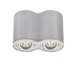 Prisadené svietidlo BORD DLP-250-AL strieborné - BORD DLP-250-AL strieborné prisadené bodové svietidlo