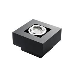 Prisadené svietidlo STOBI 50-B čierne - STOBI DLP 50-B čierne prisadené bodové svietidlo