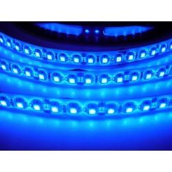 LED pásik 9.6W, 120 LED, Zaliaty IP 50 - Modrý