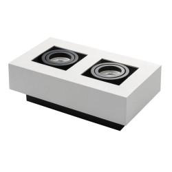 Prisadené svietidlo STOBI 250-W biele - STOBI DLP 250-W biele prisadené bodové svietidlo