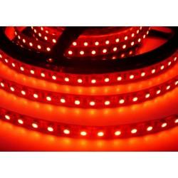 LED pásik 9.6W, 120 LED, Zaliaty IP 50 - Červený