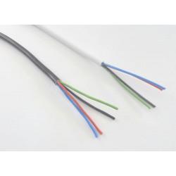 RGB kábel 4x0,5 guľatý - Farba čierna