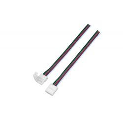 RGBW prípojka click pre LED pásik s káblom - RGBW prípojka click 10mm s káblom