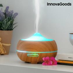 Zvlhčovač Vzduchu s aromadifuzérom LED Wooden-Effect InnovaGoods