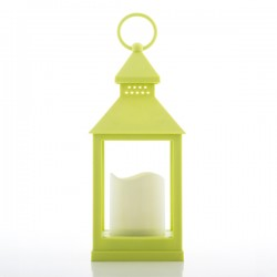Svítilna s LED Svíčkou - Pistáciovà Zelená