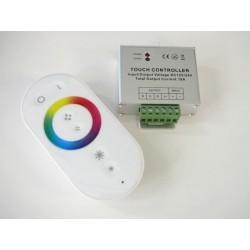 Diaľkový dotykový LED rádio ovládač RF8 pre RGB LED pásiky biely