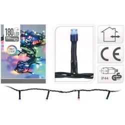 Venkovní LED řetěz - osvětlení - Barevné - 180 LED 14+3 metrů