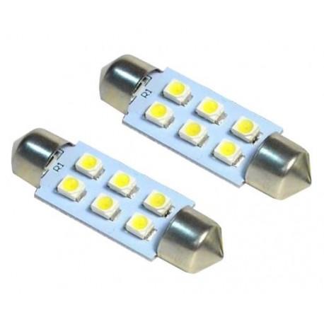 LED sufitka 36mm 6x SMD bílá