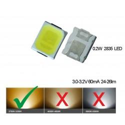 LED smd dioda 2835 teplá bílá 60mA 0.2W
