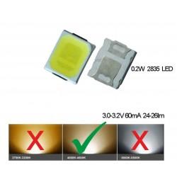 LED smd dioda 2835 denní bílá 60mA 0.2W
