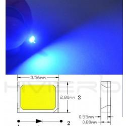 LED smd dioda 2835 modrá 60mA 0.2W