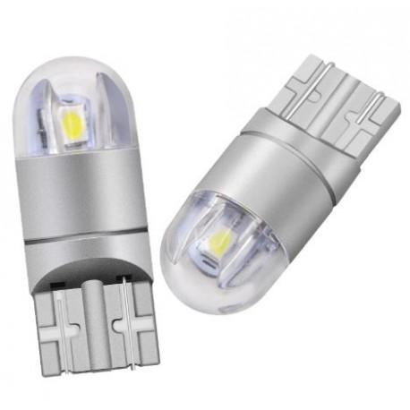 LED žárovka T10 W5W 2x SMD 3030 12V bílá