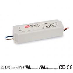 LED zdroj 24V 60W Mean Well LPV-60-24 IP67