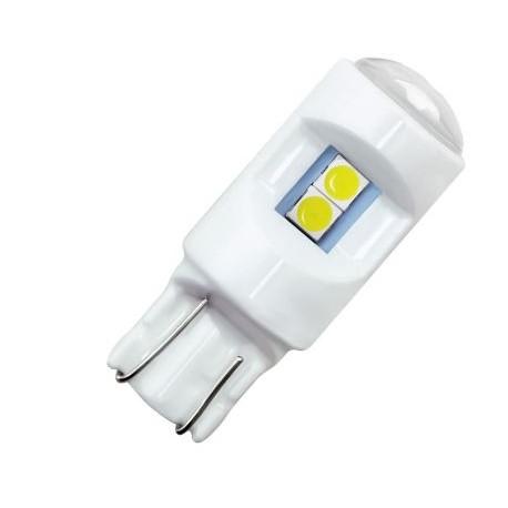 LED žárovka keramická T10 W5W smd 6x smd 3030 bílá
