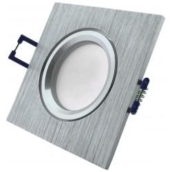 Podhledový rámeček kartáčovaný hliník hranatý ALU-S