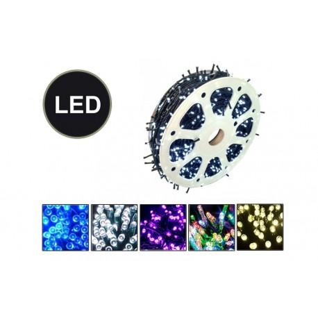 Venkovní LED řetěz - osvětlení - Bílé - 1000 LED 100 metrů