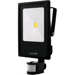 COB LED reflektor 50W 6400K Slim s PIR pohybovým čidlem