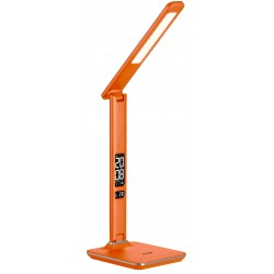 Stolní LED lampa 6W s hodinami a kalendářem - Oranžová