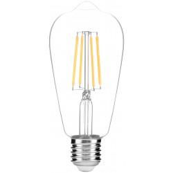LED žárovka E27 8W FILAMENT ST57 2700K retro - Čirá