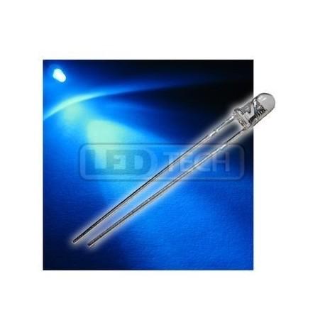 LED dióda 3mm modrá round 30°