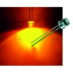LED dioda 5mm oranžová ploché čelo 100°