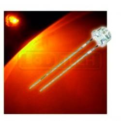 LED dioda 5mm oranžová straw hat 120°