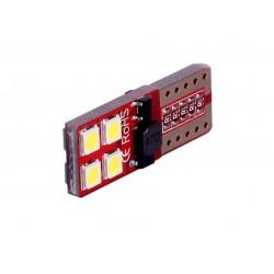 LED žárovka T10 W5W 8x SMD 3030 12V canbus bílá