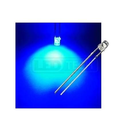 3b3a85615 LED dióda 3mm modrá ploché čelo 100° - LEDtech.sk
