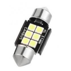 LED sufitka 31mm SMD 3030 canbus bílá