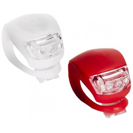 2ks LED svetlo na bicykel 2 LED silikónové vr. baterií