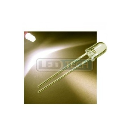 LED dióda 5mm teplá biela round 30°