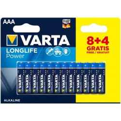 Varta Longlife Power Alkaline Micro Baterie AAA 12ks