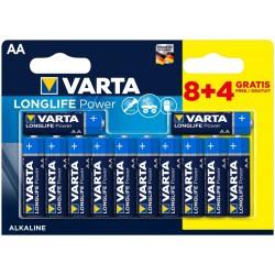 Varta Longlife Power Alkaline Micro Baterie AA 12ks