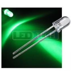 LED dióda 5mm zelená round 30°
