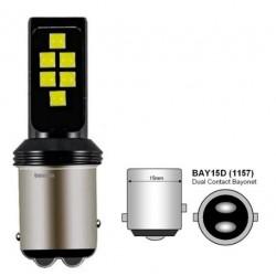 LED žárovka BA15D 3030 LED 6W červená