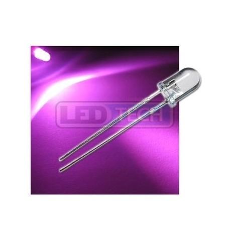 LED dióda 5mm ružová round 30°