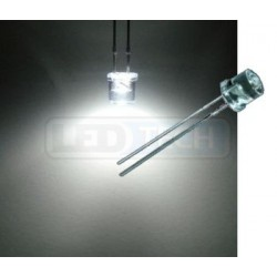 LED dióda 5mm studená biela ploché čelo 100°