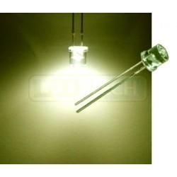 LED dióda 5mm teplá biela ploché čelo 100°