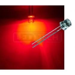 LED dióda 5mm červená ploché čelo 100°