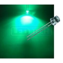 LED dióda 5mm zelená ploché čelo 100°