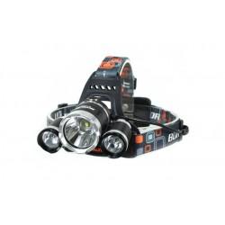 LED čelovka 2x CREE Q5 - Zoom vr. dobíjacích batérií