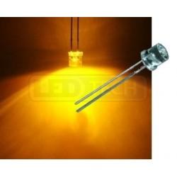 LED dióda 5mm žltá ploché čelo 100°