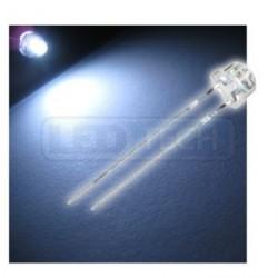LED dióda 5mm studená biela straw hat 120°