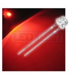 LED dióda 5mm červená straw hat 120°