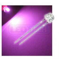 LED dióda 5mm ružová straw hat 120°